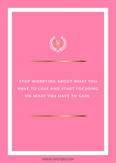 Stop worrying and focus! Browse our collection of inspirational fitness quotes and get instant exercise and weight loss motivation. Transform positive thoughts into positive actions and get fit, healthy and happy! http://www.spotebi.com/workout-motivation/weight-loss-motivation-stop-worrying-and-focus/