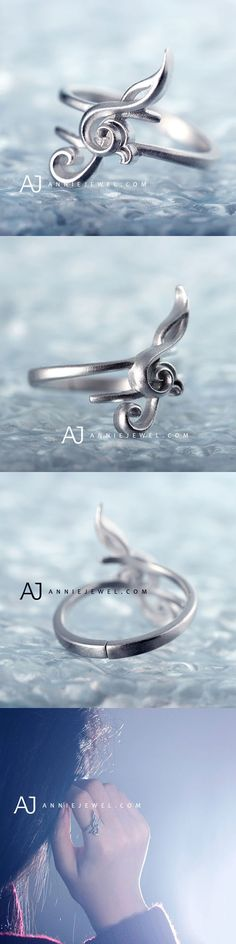 UNIQUE! STERLING SILVER RING MUSIC NOTES HANDMADE RING UNIQUE GIFT JEWELRY