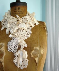 Upcycled doily scarf...love this!  Can anyone tell me what upcycled means in crochet terms.  Never heard of it before.