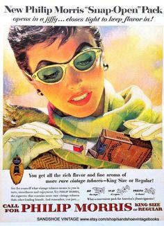 jaren 1950 PHILIP MORRIS en PEPSI van sandshoevintageprint op Etsy