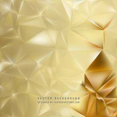Abstract Gold Polygon Background