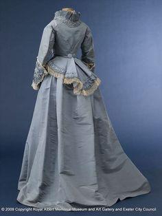 Robe de mariée victorienne bleue