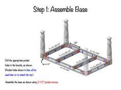 DIY Farmhouse Dining Table Plans - Step 1