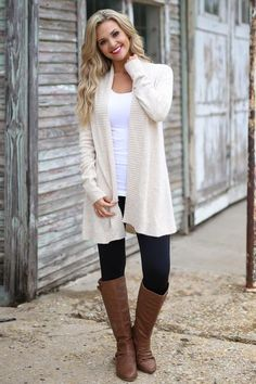 Never Felt Better Cardigan - cute oatmeal knit cardigan, fall outfit, front, Closet Candy Boutique Date Outfits, Mom Outfits, Vacation Outfits, Stylish Outfits, Cardigan Outfits, Knit Cardigan, Front Closet, Cream Outfits, Candy Boutique