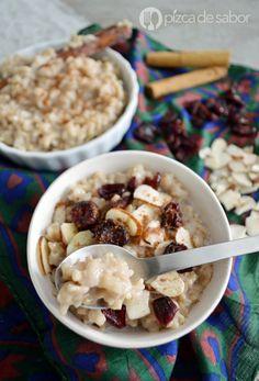 Porridge de arroz integral con almendras (saludable & fácil)