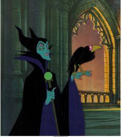 Sleeping Beauty Maleficent Production Cel Setup (Walt Disney, 1959)