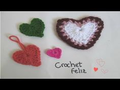 Corazón de Colores a CROCHET - GANCHILLO (Muy Fácil) - YouTube
