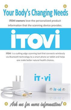 Itovi scanner that helps with essential oil suggestions