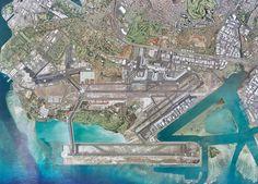 Honolulu International Airport Aerial View
