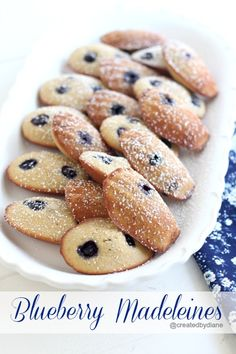 Blueberry Madeleines / #desserts #sweets #treats #cookies #cakes #blueberries #madeleines