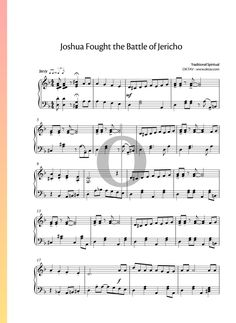 Joshua Fought the Battle of Jericho - Traditional Spiritual. Enjoy playing piano sheet music with one of the most popular spiritual compositions. Find thousands more on oktav.com. Try it for free! #piano #sheet #music #spiritual #traditional Battle Of Jericho, Free Piano, Playing Piano, Piano Sheet Music, Special Occasion, Spirituality, Popular, Songs
