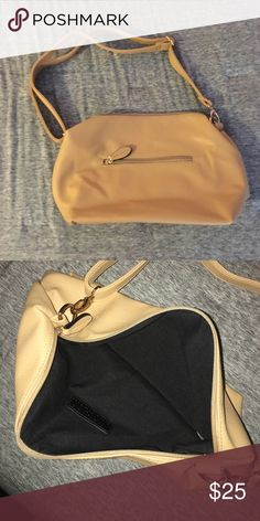 Light Tan Shoulder Bag Awesome condition! Can't find any flaws. Gold clasps/metal. Bags Shoulder Bags