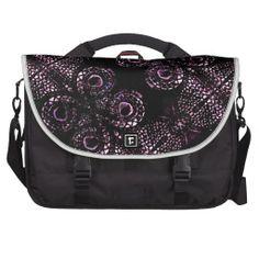 #Luxury #dark #ornament #artwork #pattern in #violet tones #Rickshaw #Commuter Laptop Bag# from #zazzle