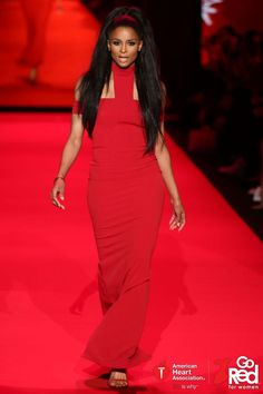 ffc1cadaa446 Ciara - Celebrity Walker in the Go Red For Women Red Dress Collection 2015  presented by Macy's.