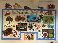 Our Autumn artwork display