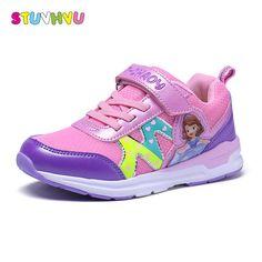 ec16e36e6d Primavera de los nuevos niños deportes zapatos de las muchachas de la  historieta zapatos casuales estudiantes zapatos corrientes de malla  transpirable ...