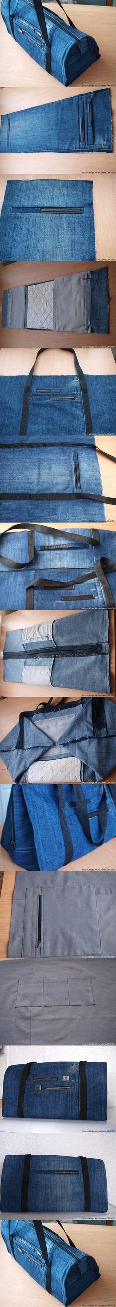 DIY Cool Handbag from Old Jeans | www.FabArtDIY.com