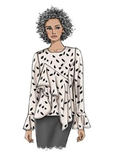 Easy Sewing Patterns, Vogue Patterns, Simplicity Sewing Patterns, Scottish Dress, Top Pattern, Fashion Sketches, Extra Fabric, Women Wear, Fashion Design