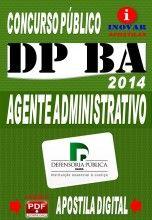 Apostila Concurso DPE BA Agente Administrativo 2014