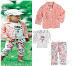 Baby Fall Clothing for Girls Pink Lace Cardigan Children's Outfits & Sets | Buy Wholesale On Line Direct from China