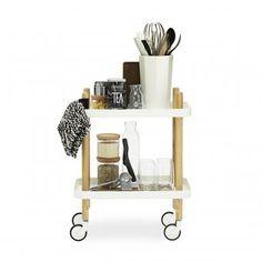 """Auf meiner Wunschliste ganz weit oben: so schön und schlicht, der Beistellwagen """"Block Table"""" von Normann Copenhagen"""