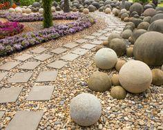 den garten mit steinen gestalten - schöne gartengestaltungsideen, Gartenarbeit ideen