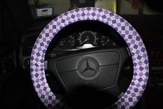 Steering Wheel Cover in Argyle Purple   Custome by SouthernAplus