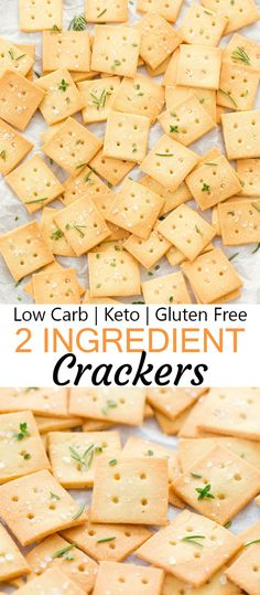 2 Ingredient Almond Crackers (Low Carb, Keto, Gluten Free) These easy crispy crackers are low carb, keto, gluten free and dairy free. Keto Crackers Recipe, Low Carb Crackers, Gluten Free Crackers, Cracker Recipe, Healthy Low Carb Recipes, Low Carb Dinner Recipes, Ketogenic Recipes, Carb Free Foods, Carb Free Snacks