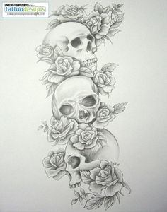 Higher Resolution Skull Tattoo Sleeves Skull Roses Sleeve By Daniellehope
