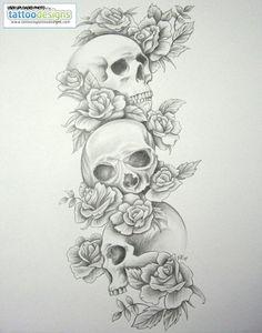 Higher Resolution Skull Tattoo Sleeves Skull Roses Sleeve By Daniellehope