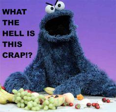 """Sesame Street's Cookie Monster Interview w/ Ella, Reveals the """"Om Nom Nom Nom Nom"""" Meme! Veggie Monster, Monster Food, Monster Jam, Mejores Series Tv, Monster Photos, No Kidding, Fraggle Rock, Myasthenia Gravis, Lol"""