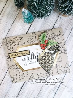 This Christmas card is one of my favorite one so far. I love this Christmas Gleaming stamp bundle. Christmas Cards 2018, Homemade Christmas Cards, Stampin Up Christmas, Xmas Cards, Christmas Tag, Homemade Cards, Handmade Christmas, Holiday Cards, Christmas Crafts