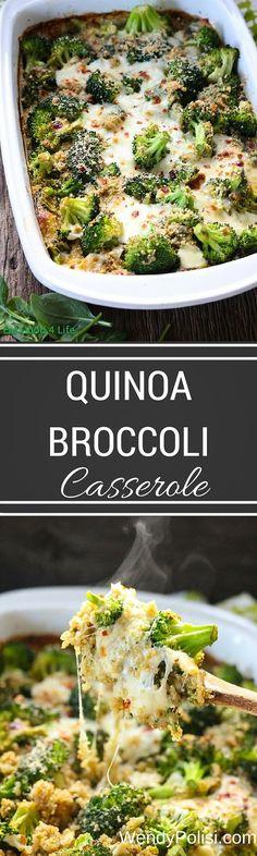 Quinoa Broccoli Casserole Broccoli Quinoa Casserole, Quinoa Broccoli, Broccoli Recipes, Healthy Gluten Free Recipes, Vegetarian Recipes, Delicious Recipes, Casserole Recipes, Vegan Casserole, Vegetable Dishes