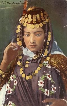 """""""Une ouled-nail"""" ~ Tunisia & Algeria collection of coloured postcards by Lehnert & Landrock 