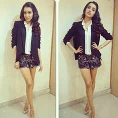 Lovely shraddha kapoor in shorts... Do u like her style?  #bollywood,  #fashion, #style, #shraddhakapoor
