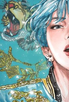 V blue hair I grouped the above mentioned questions about the pencil drawing that I received and tried to explain … Fanart Bts, Taehyung Fanart, Vkook Fanart, Bts Taehyung, Vintage Wallpaper, Bts Wallpaper, Army Wallpaper, Bts Art, Anime Lindo