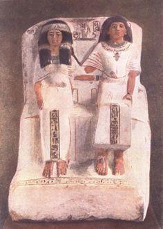 Супружеская чета. Период XVIII династии. Вторая половина XV века до н.э. Известняк
