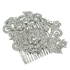 Rosetta Swarovski Luxe Bridal Comb - Bridal Jewellery - Crystal Bridal Accessories