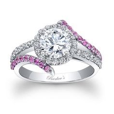 Different..beautiful ring :) Engagement Ring With Pink Sapphires - Engagement Ring With Pink Sapphires