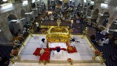 The Guru Granth Sahib is the writings of Sikhism's 10 gurus, and the focal point of every Sikh temple. Before he died, Guru Gobind Singh declared the scriptures to be the guru. Sikhism Beliefs, Guru Gobind Singh, Believe, Religion, Faith, Asian, Writings, Scriptures, Temple
