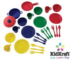 Toy Kitchen Sets - 27 Pc Cookware Playset Primary * Learn more by visiting the image link.