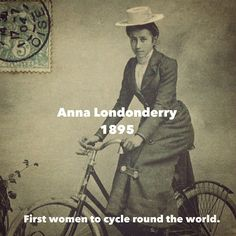 """In 1895 Annie """"Londonderry"""" Cohen Kopchovsky (1870–1947) became the first woman to bicycle around the world! . """"I am a journalist and 'a new woman,' if that term means that I believe I can do anything that any man can do."""" . #cyclelikeagirl to share your stories and follow @cyclelikeagirl to promote women's cycling together . #tbt #throwbackthursday #womenscycling #cycling #mtb #cyclocross #track"""