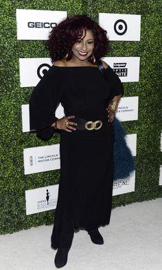 Chaka Kahn wearing an exclusive gown by Brazilian Designer Simone Sisa, Sisa Designs.