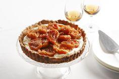 Mascarpone Tart with Peaches in Sangiovese Verjuice