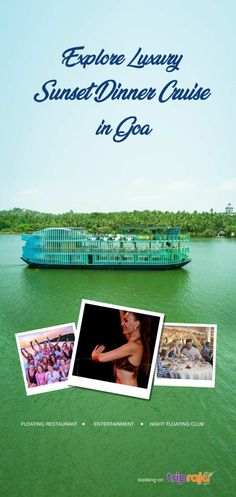 A long cruise down the River Mandovi will allow you to see the sunset from Panjim and Betim as you sail into the twilight and explore the backwaters. Floating Restaurant, World Play, Welcome Drink, Down The River, Cruise Wedding, Party Activities, Cruise Travel, Boat Tours