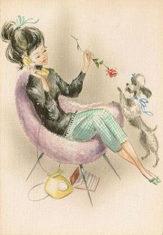 Cleo and her poodle