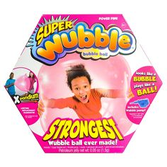 The Amazing Super Wubble Bubble Ball with Pump - Pink