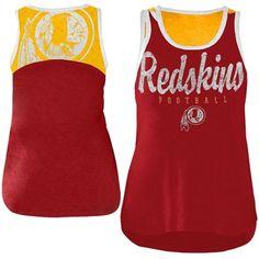 Washington Redskins Women's National Title Tank Top - Burgundy/Gold
