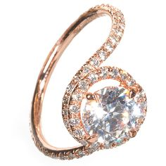 Rose Gold Engagement Ring with Diamonds by Danhov : Engagement Rings Gallery