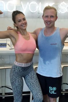 Do you sweat so much your clothes are soaked through? Then you'll feel much better after seeing this Instagram pic of Jessica Alba at SoulCycle.